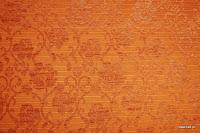 Tkanina meblowa, wzór roślinny, kwiatowy. Pomarańczowa.