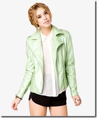 Pearlized Faux Leather Jacket