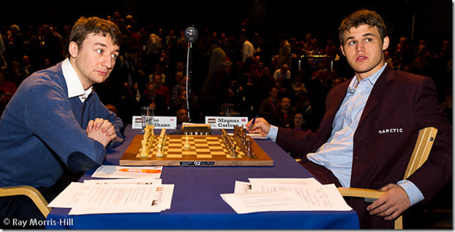 Luke McShane vs Magnus Carlsen, Round 1, London Chess Classic 2012