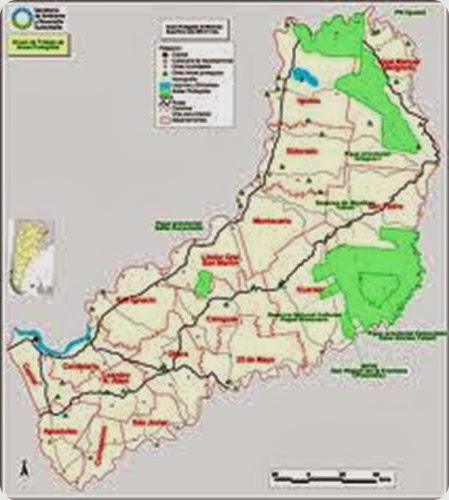 misiones map parques nacionales
