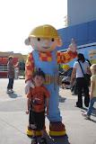 Eidan with Bob the Builder (Bob der Baumeister)
