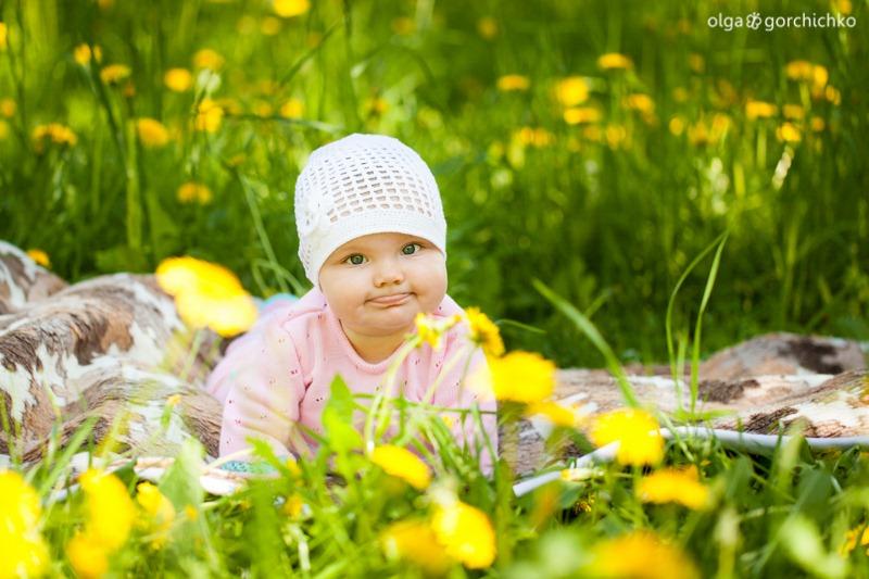 Женечка. Детская фотосессия весной