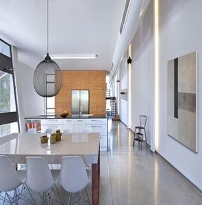 cocina moderna iluminada