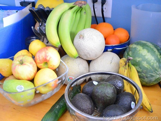 lots of fruits and veggies!
