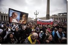 Canonizzazione due Papi