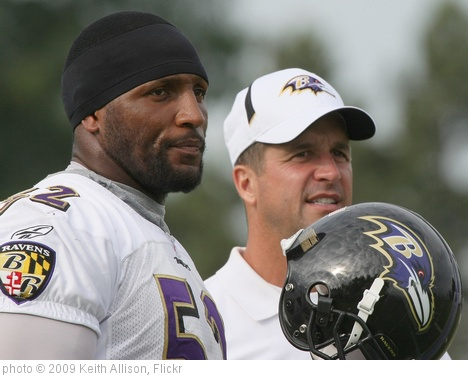 'Ray Lewis and John Harbaugh' photo (c) 2009, Keith Allison - license: http://creativecommons.org/licenses/by-sa/2.0/