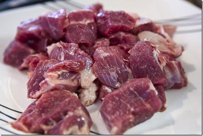 Cubed Pork