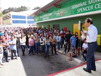Chico Brito entrega ao Jd. Mimás Terminal de Transportes e Praça de Esportes e Lazer