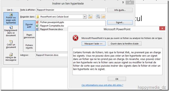 office users  powerpoint 2013   erreur lien hypertexte