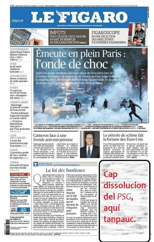 Portada Le Figaro PSG Trocadéro