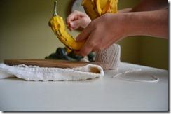 creating gourd garland