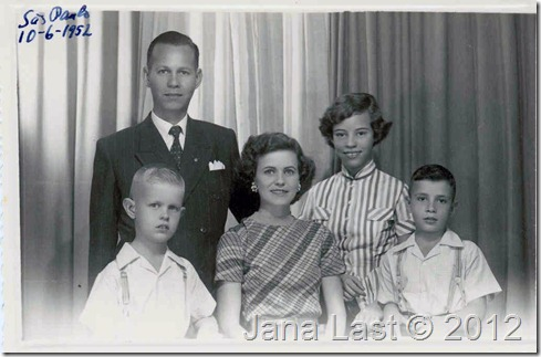 Webster family before leaving for US 1952