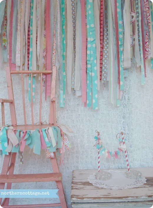 Happy Garland Set - Coordinated in YouR Chosen Colors {NorthernCottage}