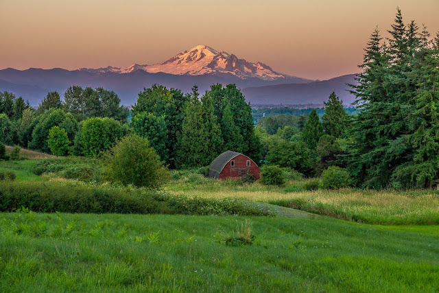 Sept/Oct 2013 - 2nd Place / Field w/barn & Mt. Baker / Credit: Mark Joseph