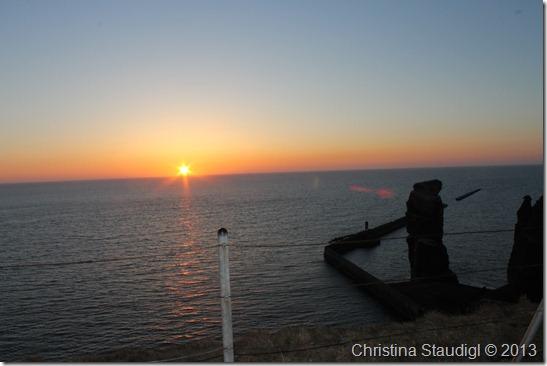 Lange Anna bei Sonnenuntergang
