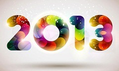 newyear 2013 graphic multi color like fabric