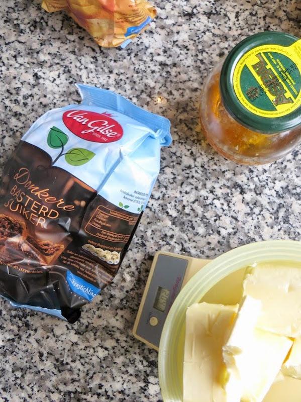suiker, honing en boter