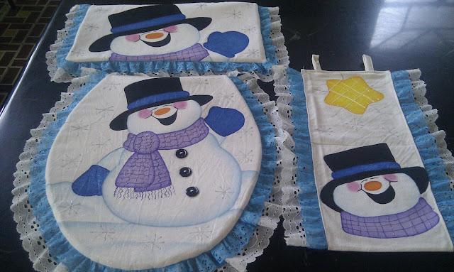 Juego De Baño Navideno A Crochet:jueves, 20 de diciembre de 2012