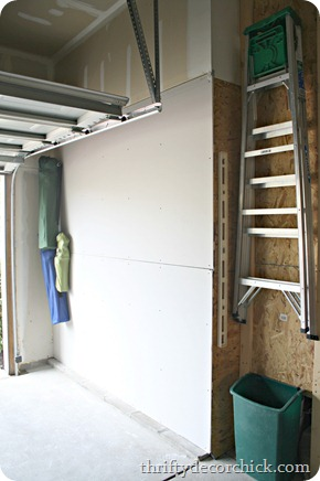 drywalled garage