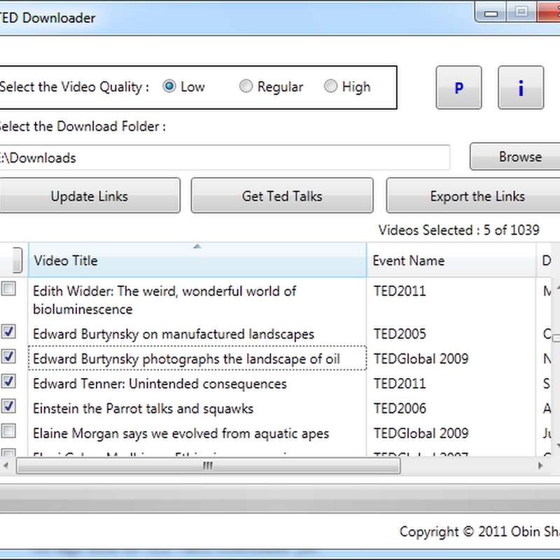 Download Videos from TED.com with TED Downloader