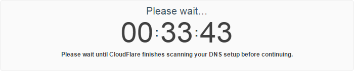 CloudFlare countdown timer