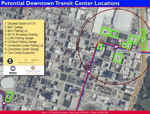 Potential Downtown Transit Center Locations