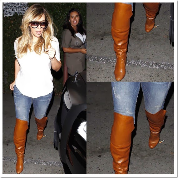 Kim Kardashian is Back in Skinny Jeans