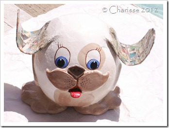 Handmade Whimsical Pup Sculpture