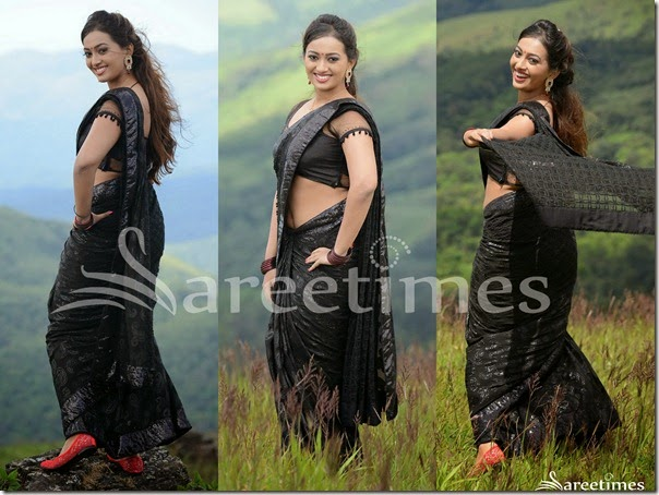 Ester_Noronha_Black_Saree