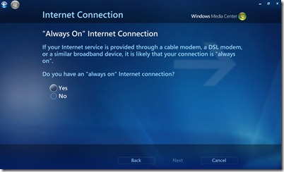 Fix No Internet Access Error Message On Windows Media Center 2
