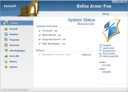 Online Armor Free
