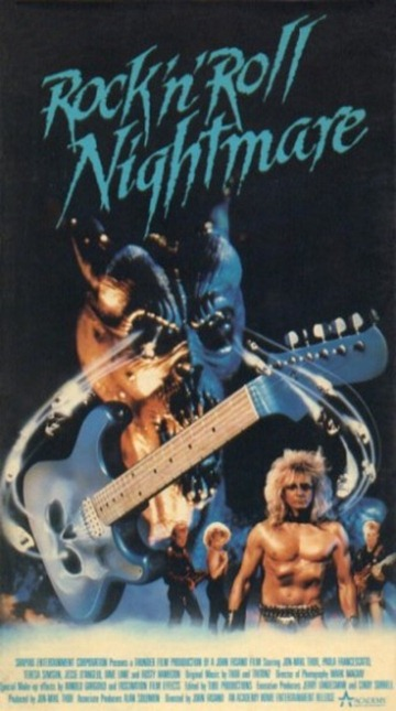 Rock N Roll Nightmare Academy Vhs Front