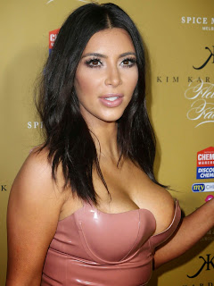 Kim Kardarshina in a Peachy Tight Latest Dress Sideboobs Visible Hot Pics Latest Sex