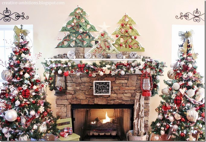 Christmas Mantel Creative Ambitions