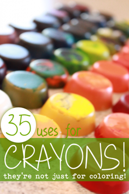 35 uses for crayons from Hands On As We Grow