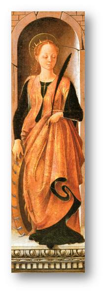 Francesco del Cossa, Santa Catalina, h. 1470-1472.