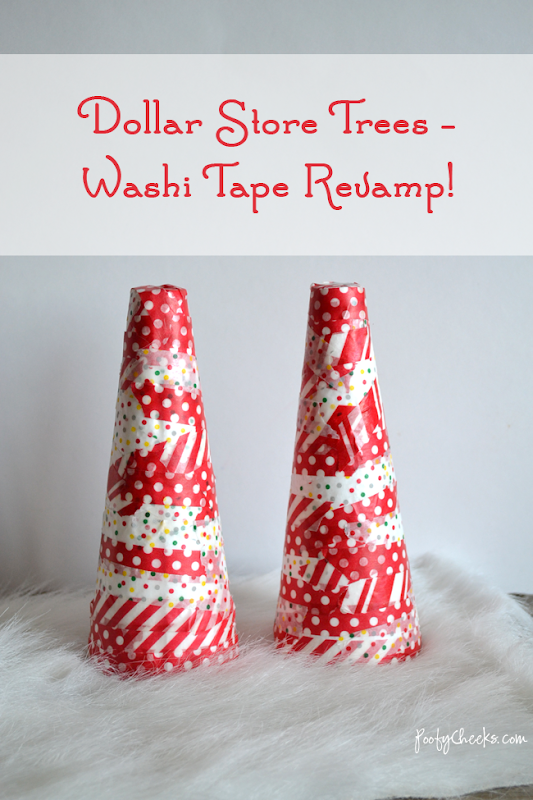 Dollar Store Tree Revamp with Washi - by Poofycheeks