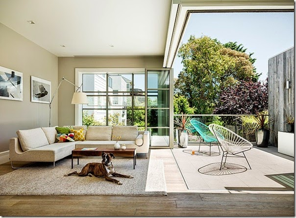 case e interni - san francisco - soggiorno terrazza