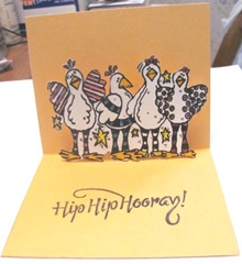 chicken card pop up inside