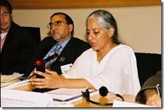 radha kumar with Ghulam Nabi Fai