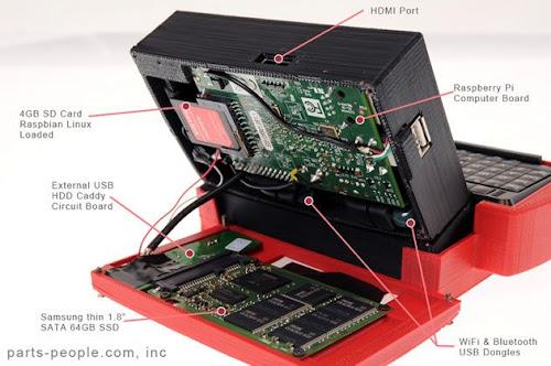 mini netbook con Raspberry PI