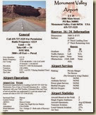 Monument Valley Airport UT25 information