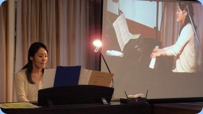 Kuniko Nakatani playing our Clavinova CVP-509. Photo courtesy of Dennis Lyons.
