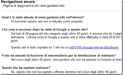 SafeBrowsing di Google