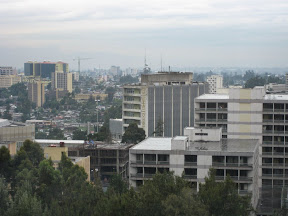 Addis Ababa seen from the Hilton