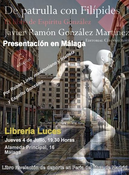 Cartel presentación en Málaga