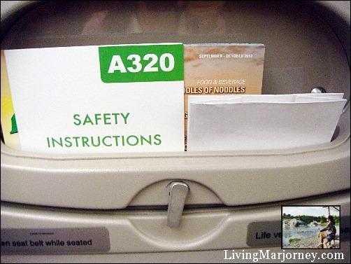 Airbus A320 aircraft interior.