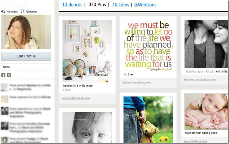 my pinterest close up