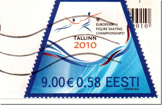 Figure skating on Estonian Stamp
