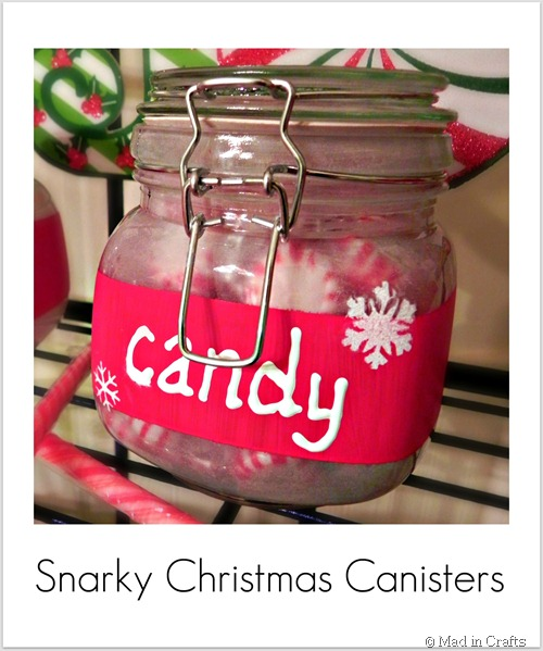 Martha Stewart paint Christmas canisters